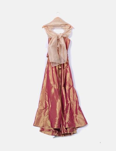 Maxi vestido tornasolado ceremonia