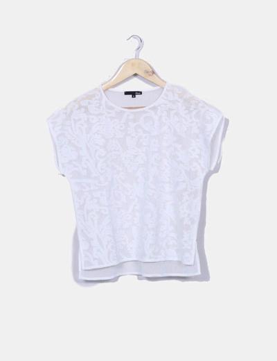 T-shirt en dentelle transparente Etam