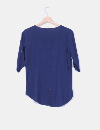 Camisa abotonada azul