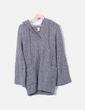 Vestido tricot gris con capucha GAP