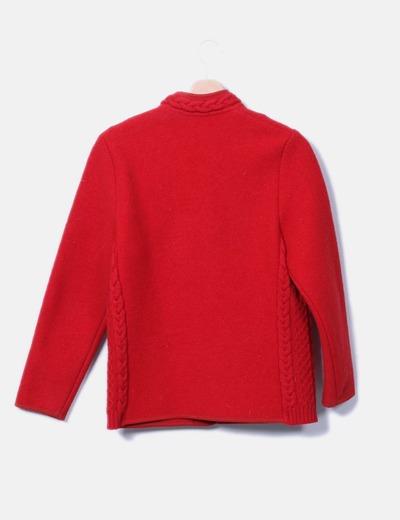 Abrigo de pano rojo