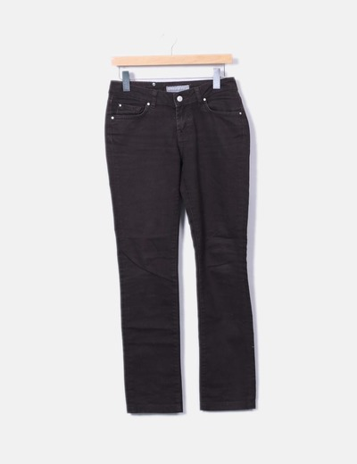 Jeans denim marron oscuro