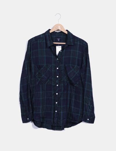 Chemise vert à carreaux Kiabi