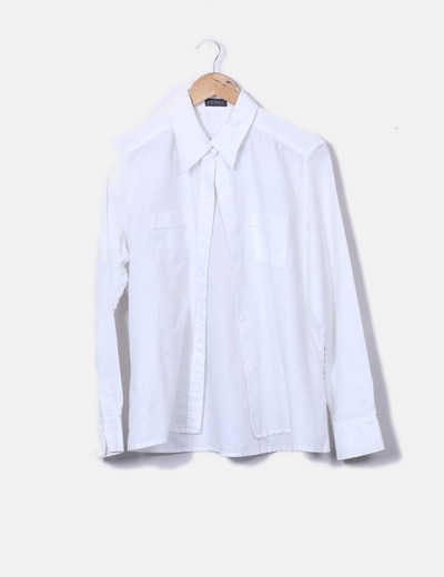 7083e2b3eb Yerse Camisa texturizada blanca (descuento 78%) - Micolet
