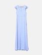 Maxi vestido satinado celeste H&M