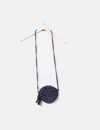 Bolso negro redondo con tachas Giovanna Milano