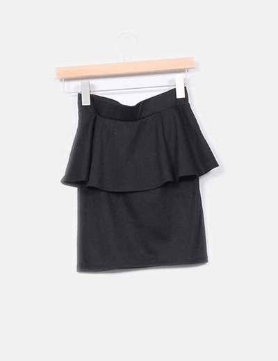 Mini falda peplum