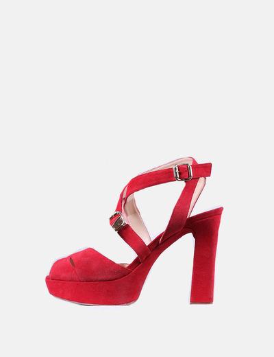 6d181b71215b9 Unisa Sandales rouges à plateformes (réduction 67%) - Micolet