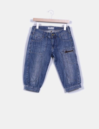 Pantalon pirata con detalle fruncido en bajos Lee