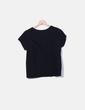 T-shirt noir imprimé loup Pull&Bear