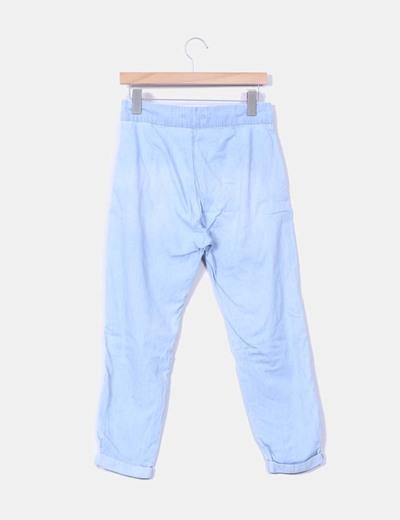 Pantalon harem azul claro