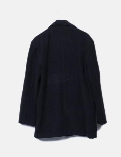Abrigo de pano gris oscuro