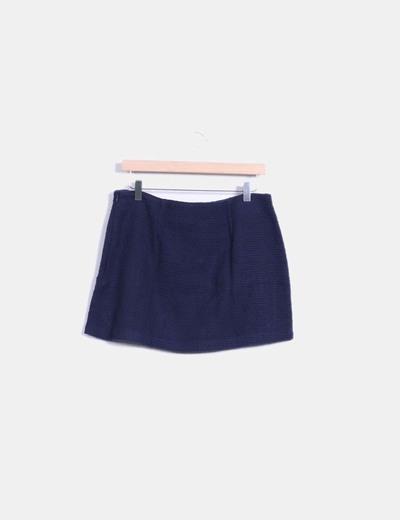 Falda azul texturizada
