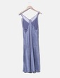 Vestido elástico glitter morado Zara