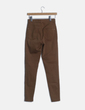 Jeans marrón skinny Bershka