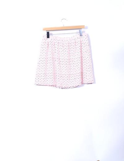 Mini falda blanca y salmon estampada