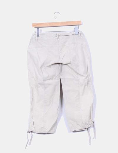 Pantalon pirata beige