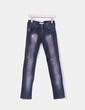 Jeans negro cruces strass MET