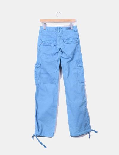 Pantalon cargo azul
