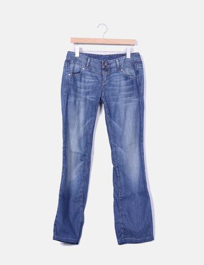 Jeans claro corte recto