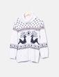 Jersey tricot con cuello cisne Zara