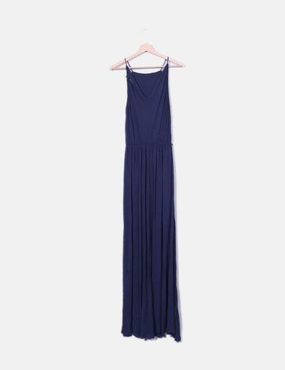 Vestido Largo 82Micolet Massimo Azul Dutti Marinodescuento WeHEID29Y