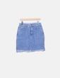 Mini falda denim desflecada H&M