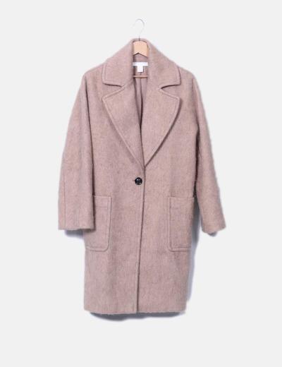 Abrigo largo lana camel