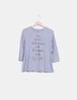 Camiseta gris glitter Stradivarius