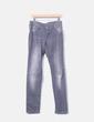 Jeans denim pitillo gris NoName