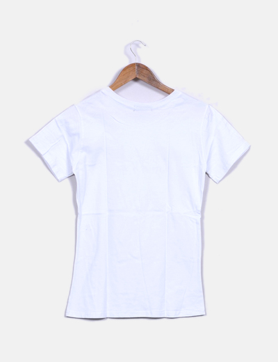 Camiseta Camiseta Blanca Print Camiseta Print Print Blanca Letras Print Blanca Blanca Letras Camiseta Letras SVpqzMUG