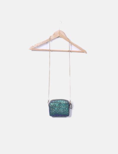 Sac vert sequin mini- / azulon River Island