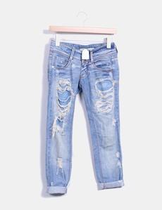 2aef223e0c Jeans denim ripped azul claro MET