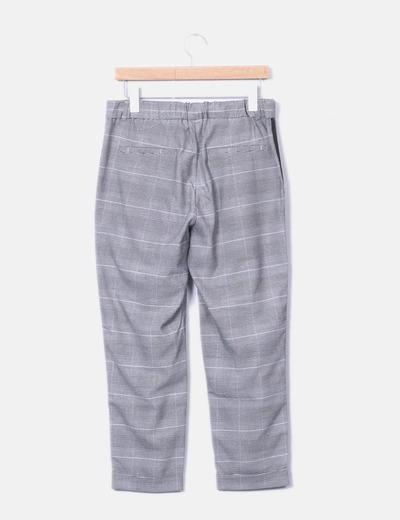 9575969d12 Zara Pantalón chino cuadros gris (descuento 68%) - Micolet