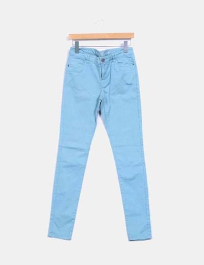 Pantalón azul pitillo Denim Co.