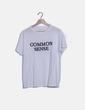 Camiseta blanca mensaje Mango