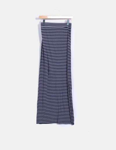 Maxi falda de rayas bicolor