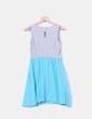 Vestido combinado bicolor NoName