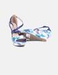Sandales bleu marine à lanières de coin tropical Maria Mare