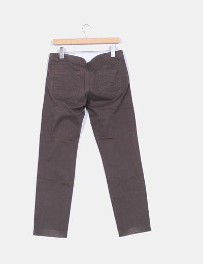 Pantalon marron chocolate recto