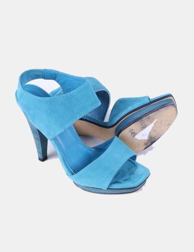 Sandalia azul de ante