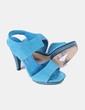 Sandalia azul de ante Gloria Ortiz