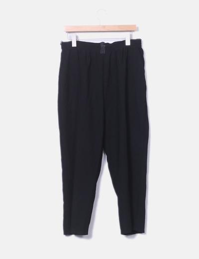 Pantalón baggy negro con cintura elastica NoName