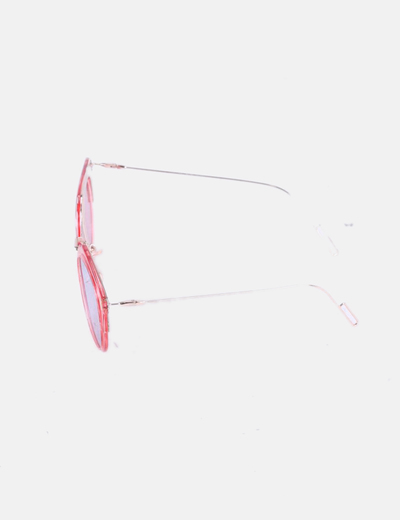 tienda de liquidación auténtica venta caliente marca famosa Gafas de sol montura rosa con cristal espejo