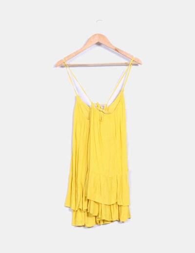 Bluson amarillo tirantes cruzados