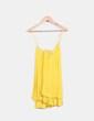 Blusón amarillo tirantes cruzados Zara