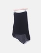 Falda de gasa negra con bordad y lentejuelas Desigual