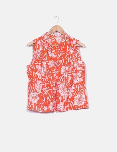 Camisa estampada bicolor Yera