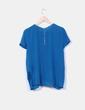 Blusa azul petróleo  Zara