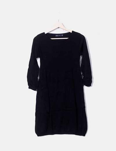 Vestido tricot negro Zara